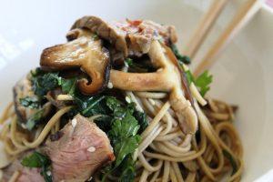 Recipe Soba Noodles Beef Porterhouse Shitake Mushrooms And Choy Sum02