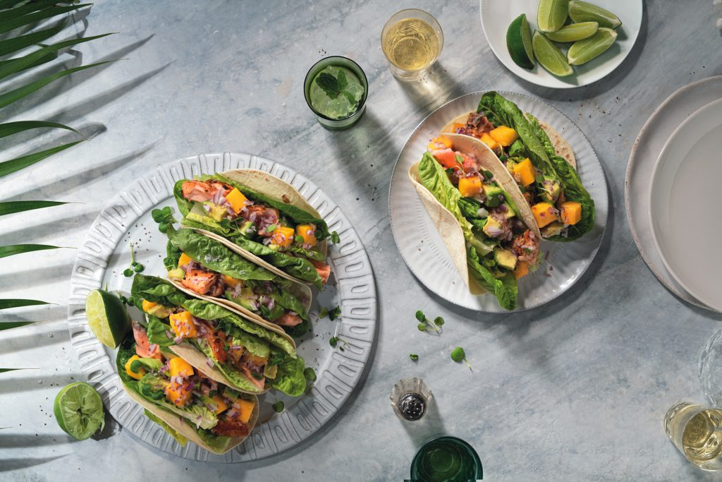 Recipe Salmon Tacos With Lime Mango Salsa