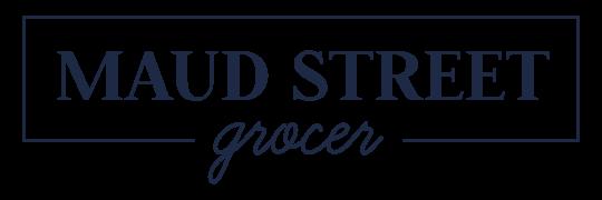 Maud St Grocer Logo Navy